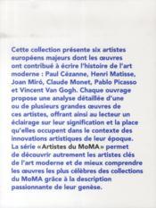 MoMA ; artistes européens - 4ème de couverture - Format classique