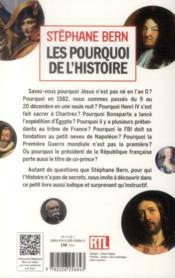 Les pourquoi de l'Histoire - 4ème de couverture - Format classique