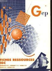 Fiches Ressources Igc - Couverture - Format classique