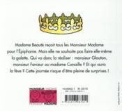 Les Monsieur Madame et la galette des rois - 4ème de couverture - Format classique