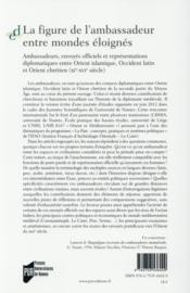 La figure de l'ambassadeur entre mondes éloignés - 4ème de couverture - Format classique