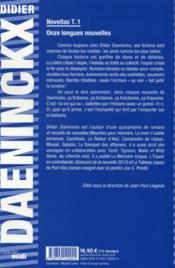 Novellas t.1 - 4ème de couverture - Format classique