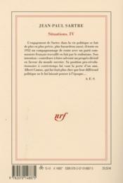 Situations t.4 ; avril 1950 - avril 1953 - 4ème de couverture - Format classique