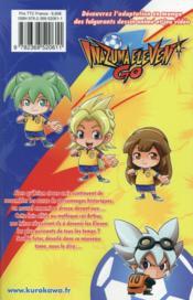 Inazuma eleven go T.6 - 4ème de couverture - Format classique