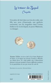 Le trésor de Zayad ; Mayotte - 4ème de couverture - Format classique