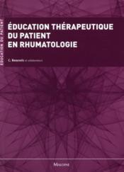Education therapeutique du patient en rhumatologie - Couverture - Format classique