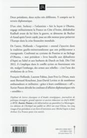 Dans les coulisses de la diplomatie française - 4ème de couverture - Format classique