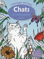 Coloriages ; chats & compagnie - Couverture - Format classique