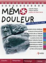 Mémo douleur (2e édition) - Couverture - Format classique