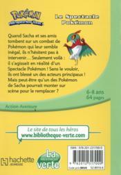 Pokémon T.22 ; le spectacle Pokémon - 4ème de couverture - Format classique