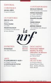 La Nouvelle Revue Francaise N.616 - Couverture - Format classique
