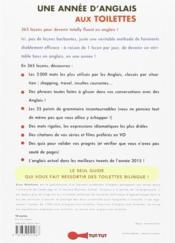 Une année d'anglais aux toilettes ; 365 leçons pour parler English very well ! - 4ème de couverture - Format classique