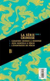 La série chinoise t.2 - 4ème de couverture - Format classique