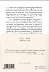 Monarques - 4ème de couverture - Format classique