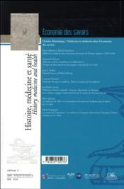 Économie des savoirs - 4ème de couverture - Format classique