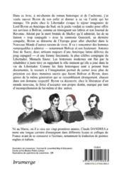 Un poète chez le Libertador - 4ème de couverture - Format classique