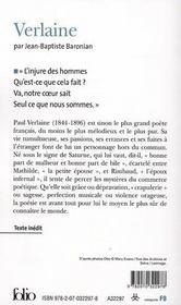 Verlaine - 4ème de couverture - Format classique