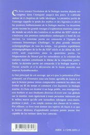 Histoire De La Biologie Marine - 4ème de couverture - Format classique