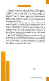 Mouloud Feraoun - 4ème de couverture - Format classique