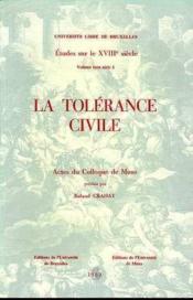 La Tolerance Civile - Couverture - Format classique
