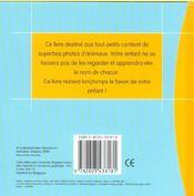 Mes Toutes Premieres Photos D'Animaux - 4ème de couverture - Format classique