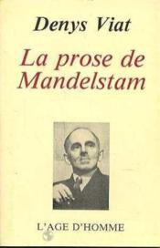 La Prose De Mandelstam - Couverture - Format classique