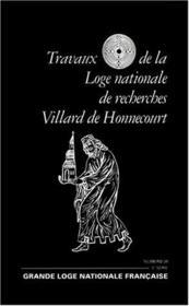 Travaux de la loge nationale de recherches Villard de Honnecourt n°39 - Couverture - Format classique