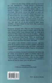Contes libertins i faules amorosas - 4ème de couverture - Format classique