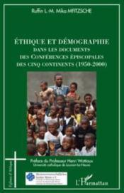 Éthique et démographie dans les documents des conférences épiscopales des cinq continents (1950-2000) - Couverture - Format classique
