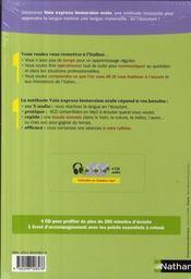 Pack 3 CD ; italien ; immersion orale (édition 2009) - 4ème de couverture - Format classique