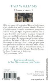 Château d'ombre t.1 ; les royaumes des marches - 4ème de couverture - Format classique