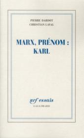 Marx, prénom : Karl - Couverture - Format classique