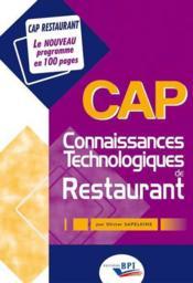 CAP techno ; restau coll 100 pages - Couverture - Format classique