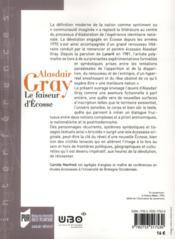 Alasdair Gray; le faiseur d'Ecosse - 4ème de couverture - Format classique