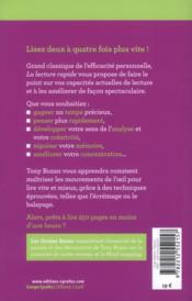 La lecture rapide (2e édition) - 4ème de couverture - Format classique