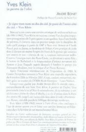 Yves klein, le peintre de l'infini - Couverture - Format classique