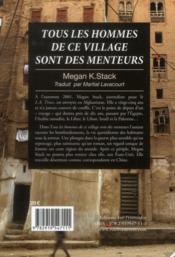 Tous les hommes de ce village sont des menteurs - 4ème de couverture - Format classique