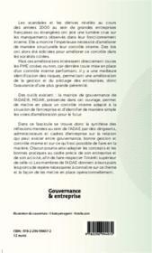Gouvernance et contrôle interne - 4ème de couverture - Format classique