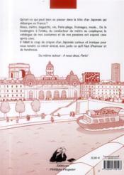 Paris, le retour ! - 4ème de couverture - Format classique