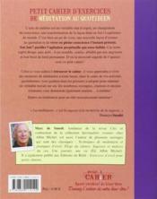Petit Cahier D'Exercices ; De Méditation Au Quotidien - 4ème de couverture - Format classique