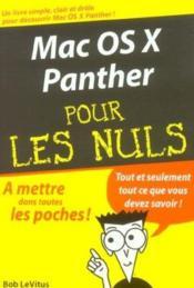 Mac Os X Panther Pour Les Nuls - Couverture - Format classique