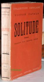 Solitude. - Couverture - Format classique