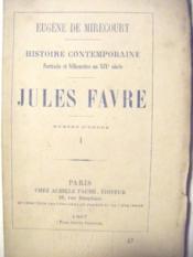 Jules Favre. - Couverture - Format classique