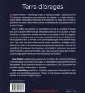 Terre d'orages - 4ème de couverture - Format classique