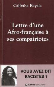 Lettre d'une africaine française à ses compatriotes - Intérieur - Format classique