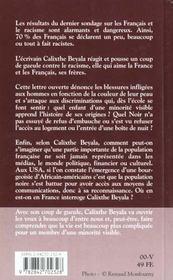 Lettre d'une africaine française à ses compatriotes - 4ème de couverture - Format classique