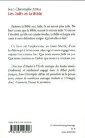 La bible et les juifs - 4ème de couverture - Format classique