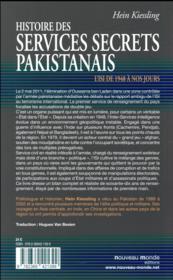 Histoire des services secrets pakistanais ; l'Isi de 1948 à nos jours - 4ème de couverture - Format classique