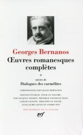Oeuvres romanesques complètes t.2 ; dialogues des carmélites - Couverture - Format classique
