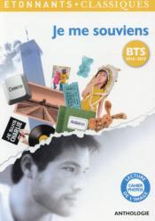 telecharger Je me souviens – programme BTS 2016-2017 livre PDF en ligne gratuit